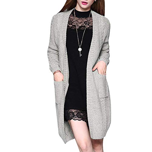 Femme Avant Manches Automne Uni Pulli Fashion Chaud Longues Longues Pullover Casual Tricot Poches Saoye Hiver Manche V 6FqAwtt