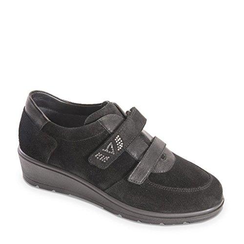 V18502 Valleverde Donna Eu Nero Autunno Camoscio Scarpe Sneakers In 37 2018 x6tZ6