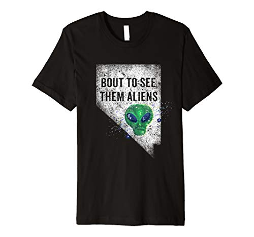 Bout To See Them Aliens Storm Area 51 Funny Meme Vintage Premium T-Shirt