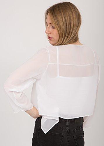 Cache-épaules style boléro ultra-fin blanc