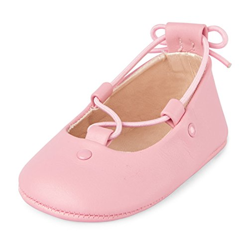 The Children's Place Girls' Nbg Lace Ballet Flat, Pink, 6-12MONTHS Months US ()