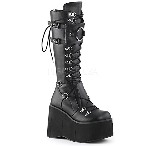 Demonia Kera-200 Platform Lace-Up Knee High Boots
