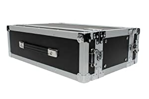 """XSPRO XS3U-10 3 Space 3U ATA Effects Rack Flight Case Front and Back Rails - 19"""" Wide"""