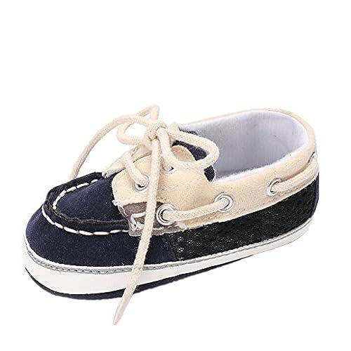 4bc5ffb9ba83e Enfants Chaussures Auxma Baby Garçon fille Grid Chaussures à lacets  Chaussettes respirantes préambuleables Sneaker Pour 3