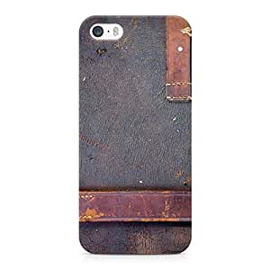 Loud Universe Old Aged Leather Print Durable Wrap Around iPhone SE Case - Blue