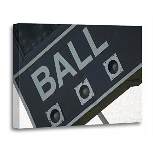 (TORASS Canvas Wall Art Print Sport Baseball Scoreboard Outdoors Softball Day Color Artwork for Home Decor 12