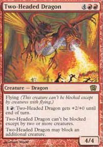 Red Three Headed Dragon (Magic: the Gathering - Two-Headed Dragon - Eighth Edition - Foil)