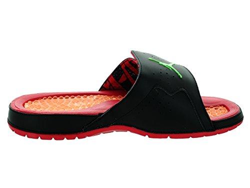 Jordan Hombres Hydro Vii Retro, Negro / Verde Pls-tr Rojo-brillante Mndrn Negro / Verde Polaris-true Rojo