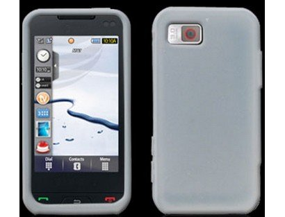 Clear Protective Silicone Skin Cover Case for Samsung Eternity ()