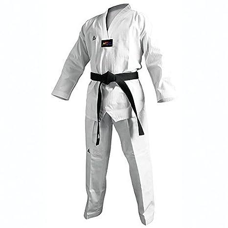 11093dd889857 adidas Champion II Taekwondo Dobok Uniform with Black V Neck: Amazon.co.uk:  Sports & Outdoors