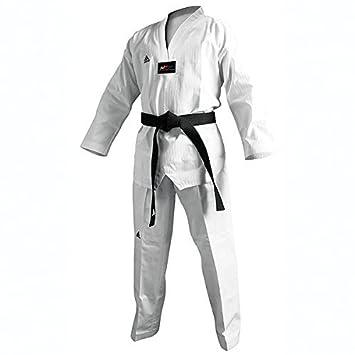 Adidas Champion II Taekwondo Dobok Uniform with Black V Neck