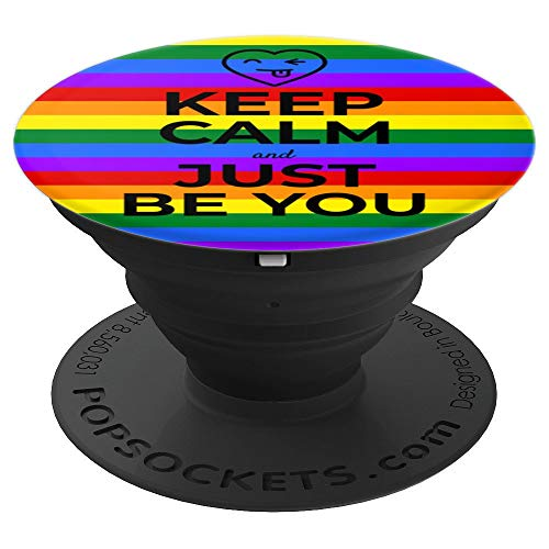Just Be You Inspirational LGBT Teen Gift Rainbow Gay Pride - PopSockets Grip and Stand for Phones and Tablets