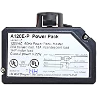 Wattstopper A-120-E-P 120VAC Power Pack Master 20A Ballast General Use, Class 2 Power Supply