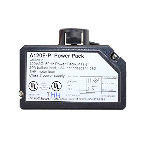 - Wattstopper A-120-E-P 120VAC Power Pack Master 20A Ballast General Use, Class 2 Power Supply