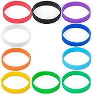 N-A Silicone Wristband, Unisex Sports Party Decoration Universal Bracelet, 10Pcs, Multicolor