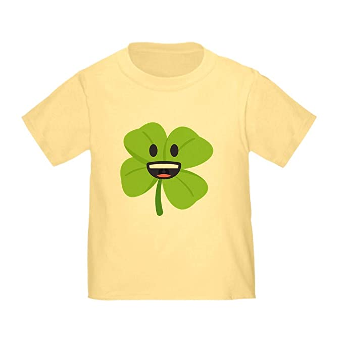 d306d5157 Image Unavailable. Image not available for. Color: CafePress Shamrock Face Toddler  T Shirt ...