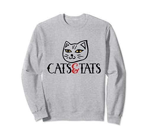 Cats & Tats design cat Sweatshirt -