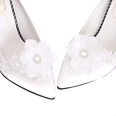 Amazon wedding bridal shoe clips shoe ornaments wedding lace accessories shoe decoration charms junglespirit Choice Image