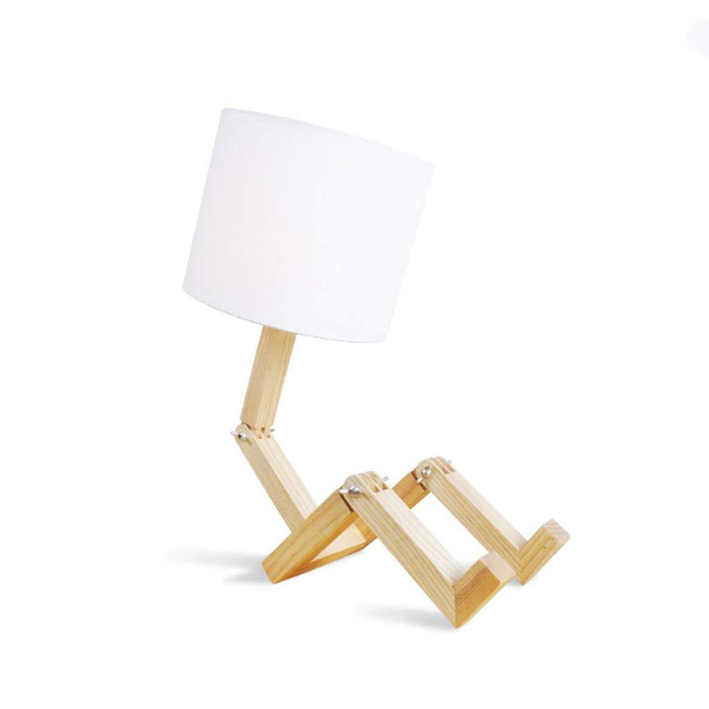 Unbekannt LC Tischlampe aus massivem Holz L