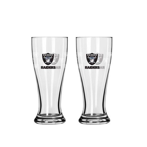 Boelter Brands NFL Oakland Raiders Mini Pilsner, 2.5-Ounce, 2-Pack