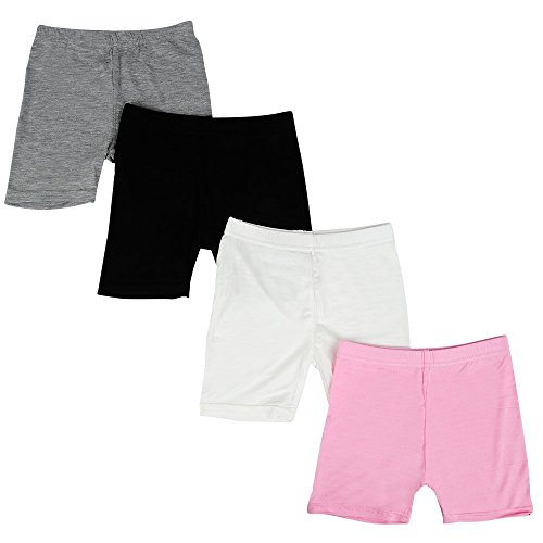 Bossail Kids Series Little Girls' Modal Boyshort Panties (Pack of 4) (Style1, 3-4 Years) ()