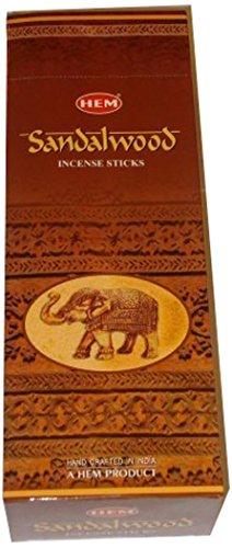 Hem Sandalwood Incense - 1 box of approximately 120 sticks by The Indian...