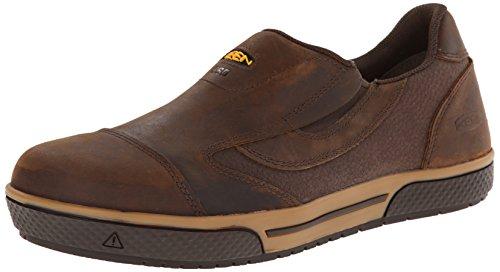 KEEN Utility Men's Destin Slip-On ESD Work Shoe, Cascade Brown, 9 2E US (Men Keen Slip Non Shoes)