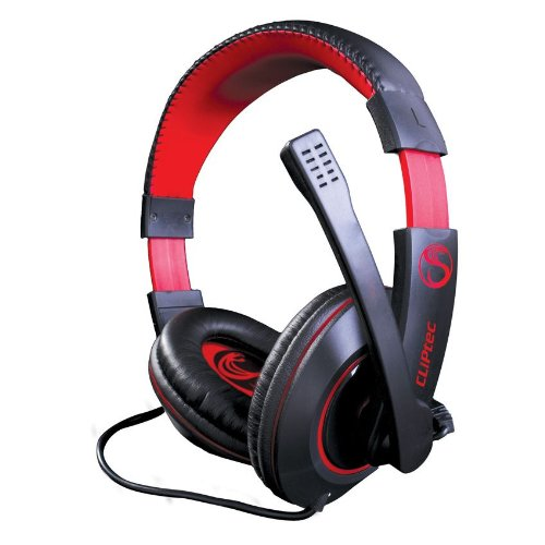 Cliptec Stereo Multimedia Wired Gaming Headset Earphone Over Ear Headphone Noise Isolating Volume Control w/ Microphone 3.5mm Audio Jack For PC /Laptop/ Cellphone