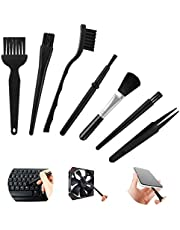 7 in 1 Anti Static Cleaning Brush Set Keyboard Brush Multipurpose Conductive Ground ESD Plastic Handle Nylon Dust Cleaning Brush Kit for Computer Motherboard Camera ESD Tablet Mobiles