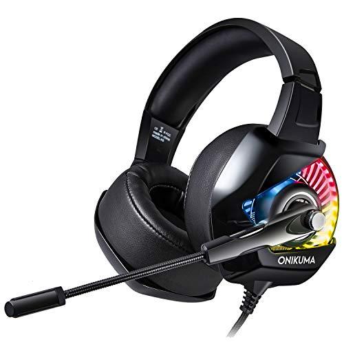 ONIKUMA k6 Noise Canceling Gaming Headset for PS4, PC, Xbox, Nintendo Switch(Black) (Star Wars Battlefront Best Trait)
