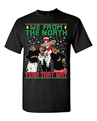 Ugly Christmas T-Shirt Migos We from The North Men's Tee Shirt