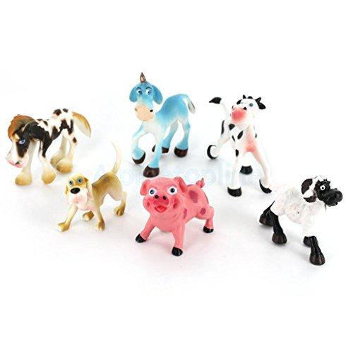 6pcs Plastic Farm Animal Set Kids Educative Toy Party Bag Filler Gift