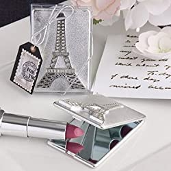 Eiffel Tower design mirror compacts [SET OF 12]