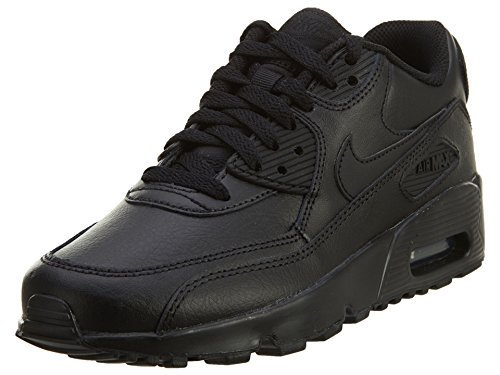 purchase cheap 65298 d418b Galleon - Nike 833412-001 Kid s Air Max 90 Leather Running Shoes,  Black Black, 4 M US Big Kid