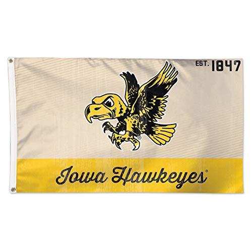 Wincraft Iowa Hawkeyes Retro Est. 1847 3x5 College Flag (3x5 Hawkeyes Flag Iowa)
