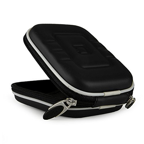 Compact Slim EVA Camera Case for Sony Cyber-shot DSC-W800 WX350 W830 W810 WX300 WX80 W730 W710 WX150 W690 WX50 WX70 W610 W620 W650 Point and Shoot Digital Cameras (Black) ()