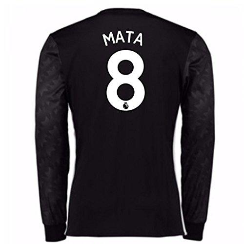 プラスチック貸す傷跡2017-18 Man Utd Away Long Sleeve (Mata 8)