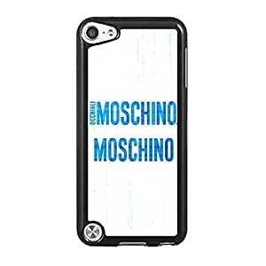 Ipod Touch 5th Generation Funda Case, Moschino Brand Symbol Trendy Non-Slip Hard Plastic Funda Case for Women Compatible With Touch 5th
