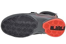 Nike Kids Lebron Soldier IX GS, Dark Grey / Dark Grey / Black - Hot Lava (6.5 M US Big Kid, Dark Grey / Dark Grey / Black - Hot Lava)