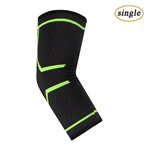 UncleHu Elbow Brace Compression Sleeve Elastic Support for Tendonitis, Golf, Tennis and Other Sports Protective Injured Joint Pain Relief-Men/Women