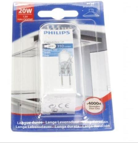 Wpro Bombilla o lámpara Halogen 12 V 20 W 310 lumens para Campana 484000000983: Amazon.es: Hogar