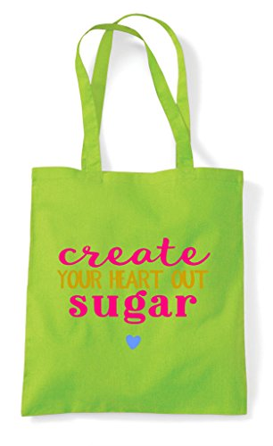 Statement Crafting Tote Create Heart Bag Your Out Sugar Lime Shopper YqPYIX6w