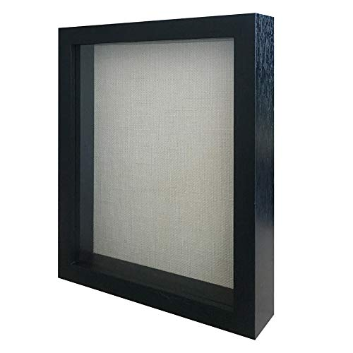 8x10 Shadow Box Frame Showcase, Display Memorabilia, Pins, Awards, Medals, Tickets and Photos - Wall Hanging Picture Frames