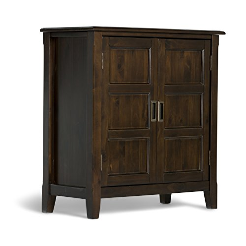 Simpli Home Burlington Low Storage Cabinet, Espresso Brown