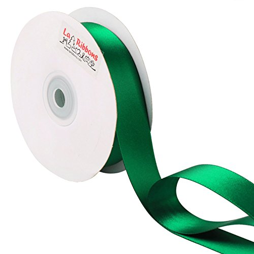 Big Save! LaRibbons 1 inch Wide Double Face Satin Ribbon - 25 Yard ( 587-Forest Green )