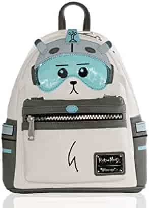 Loungefly Rick and Morty Snowball Faux Leather Mini Backpack Standard 2abf259532