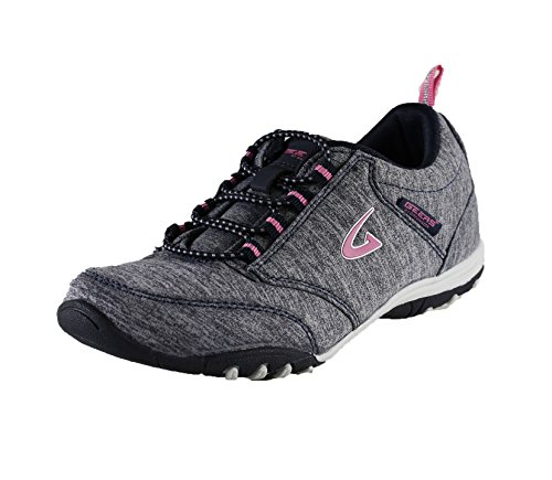 Geers Women's 2642 Grey/Navy Casual Athletic Slip On Fashion Sneaker – 5 M US