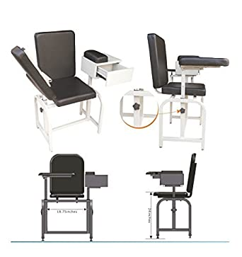 Elegant Amazon.com: Blood Drawing Chair With Drawer, Arm Rest U0026 Cushioned Seat:  Industrial U0026 Scientific