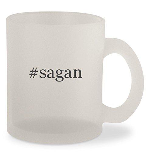 #sagan - Hashtag Frosted 10oz Glass Coffee Cup Mug