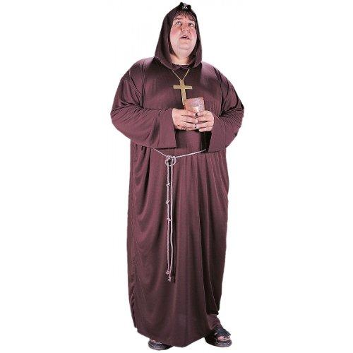 Hunchback Halloween Costume (Fun World Men's Monk Plsz Cstm, Multi, Plus)